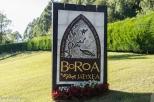 Cartel de entrada al restaurante Boroa